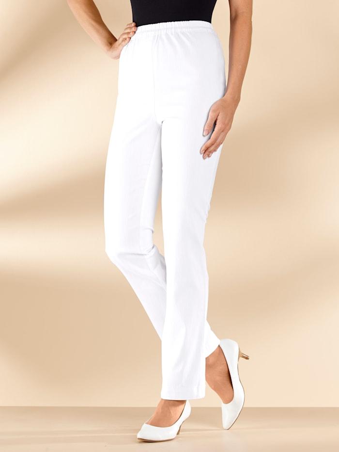 MIAMODA Jeans met comfortabele, elastische band, Wit