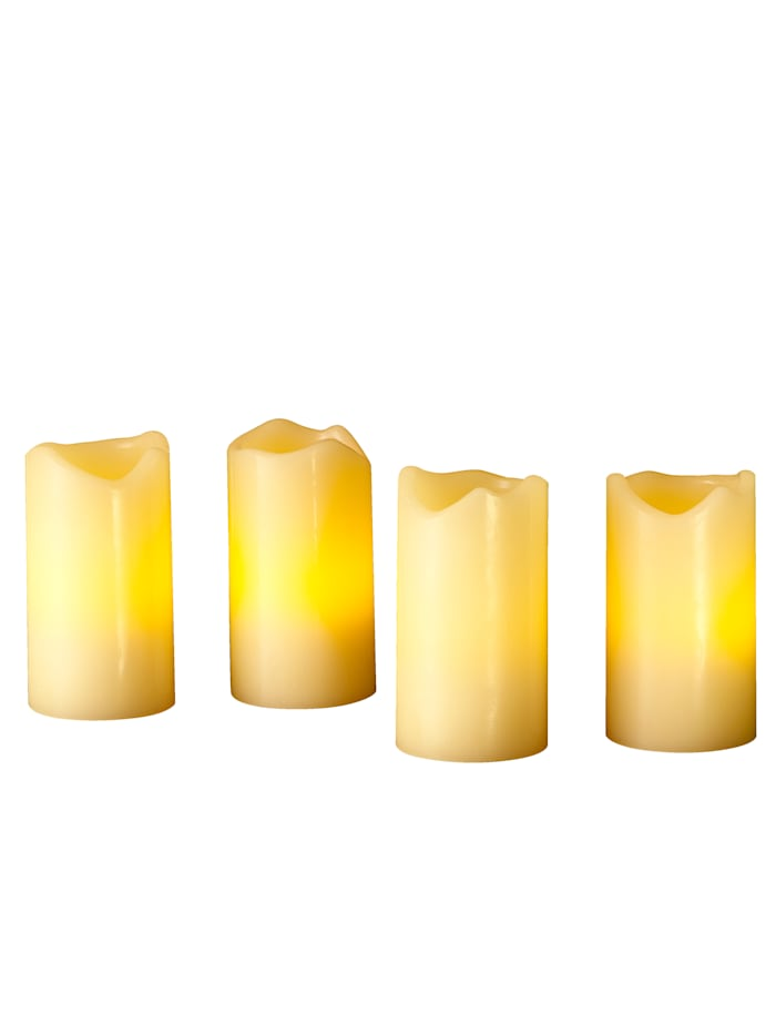 Star Trading Lot de 4 bougies LED