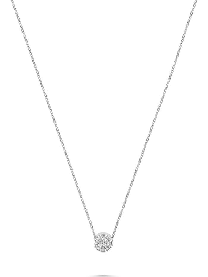 Jette JETTE Damen-Kette Pivot 925er Silber rhodiniert 53 Zirkonia, silber