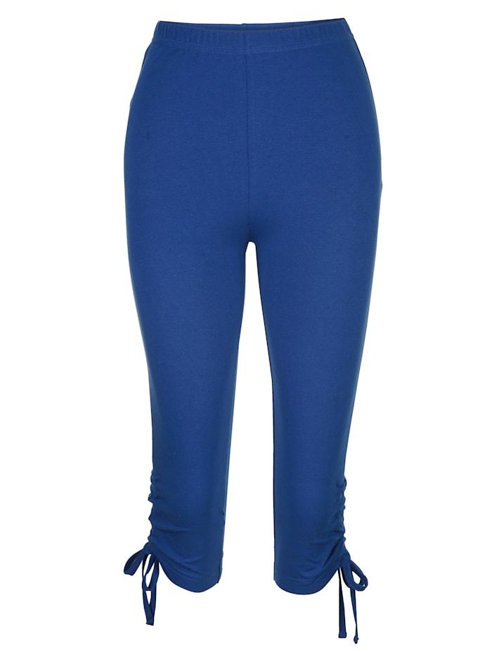 Maritim Legging mit raffbarem Bindeband am Beinabschluss, Marineblau