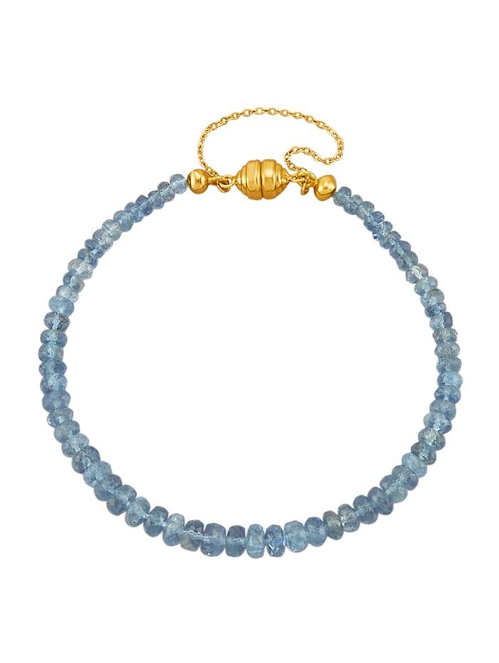 Amara Farbstein Aquamarin-Armband mit Aquamarin, Blau