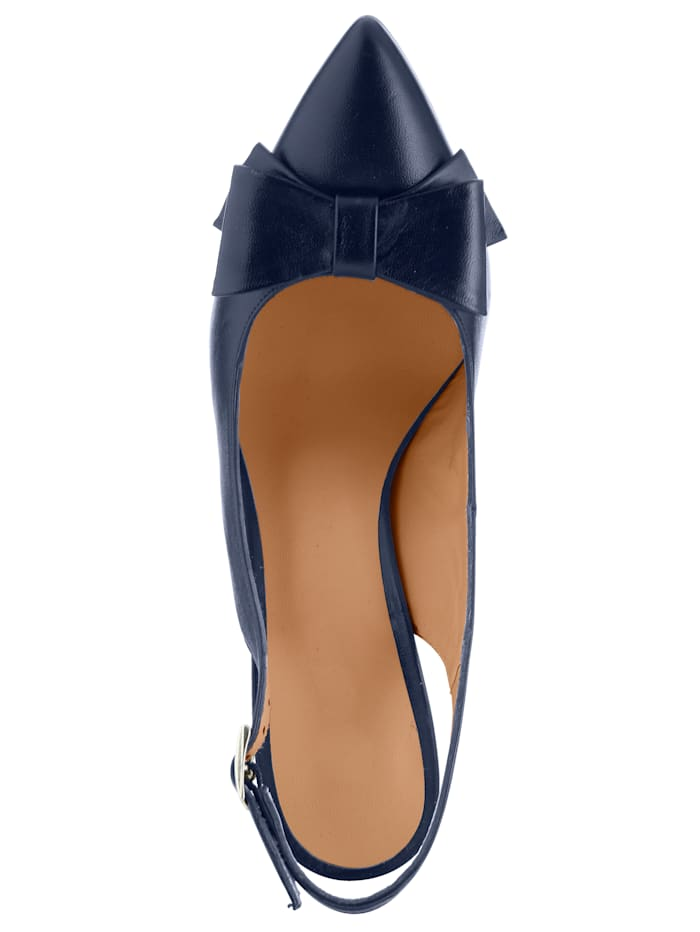 Slingbacks Made of soft nappa leather