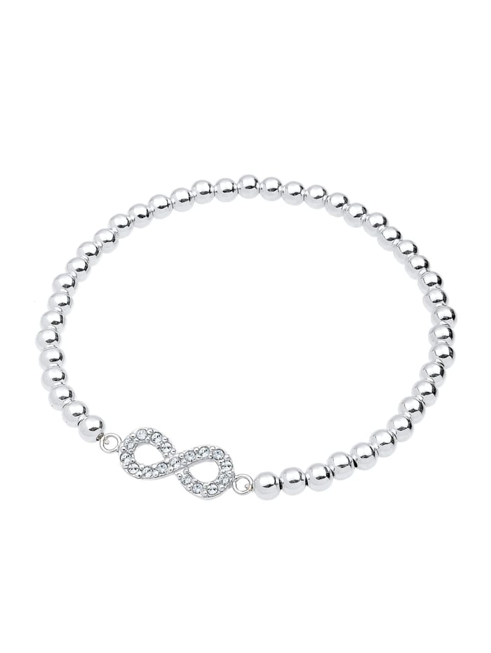 Armband Infinity  Kristalle 925 Silber
