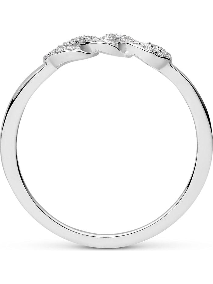 CHRIST Damen-Damenring 585er Weißgold 22 Diamant