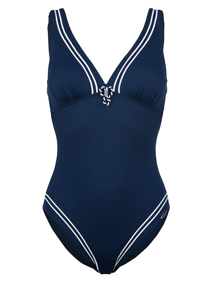 Sunflair Maillot de bain avec passepoils mode, Bleu
