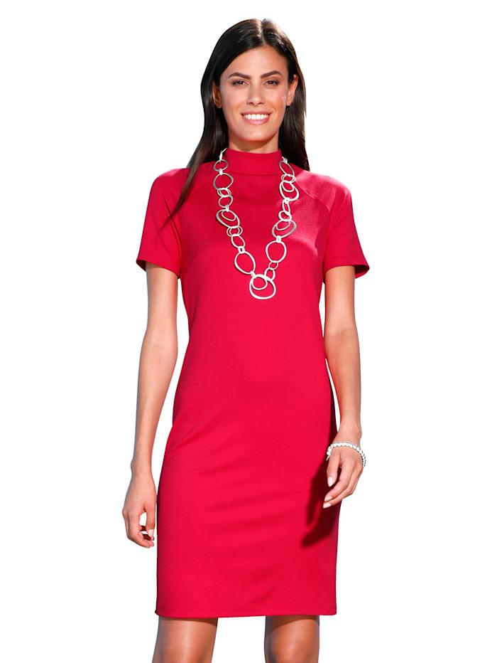 AMY VERMONT Jersey jurk met opstaande kraag, Rood