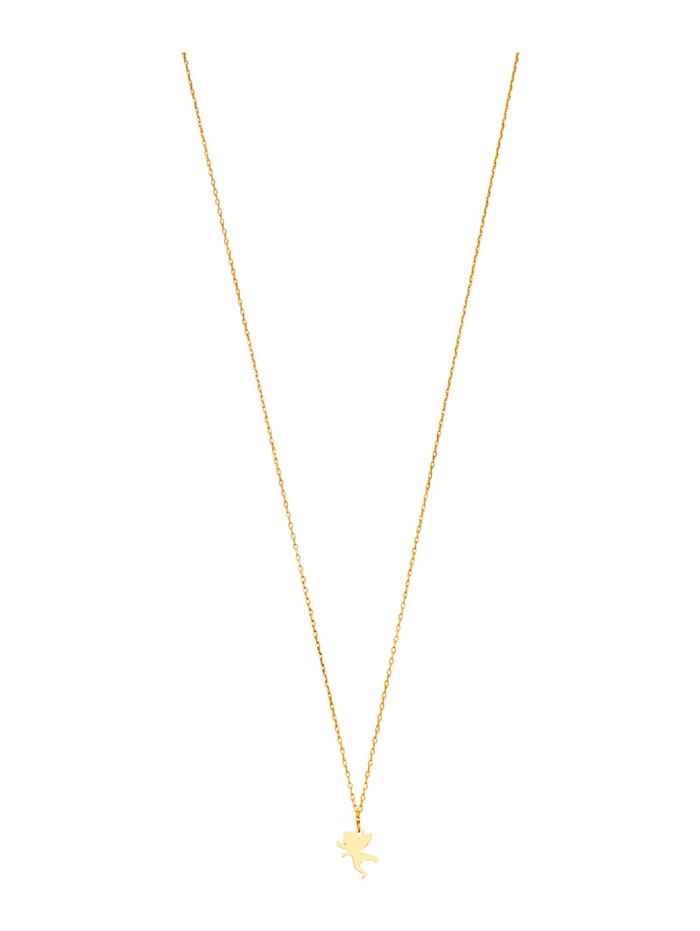 Anhänger mit Kette in Gelbgold 375, Gelbgoldfarben