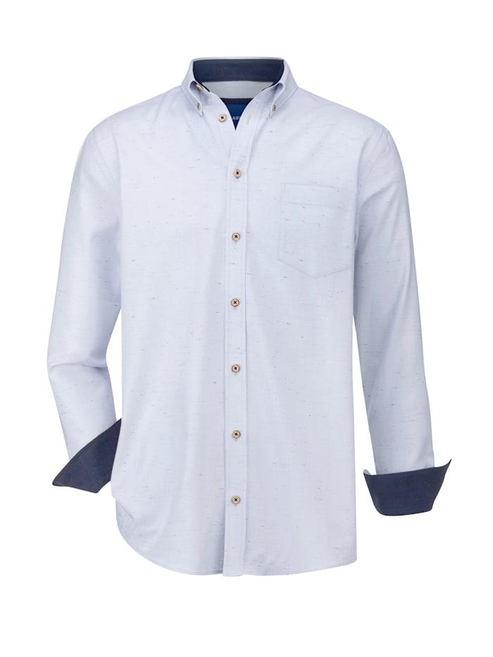 BABISTA Overhemd met fijne kleuraccenten door het effectgaren, Lichtblauw