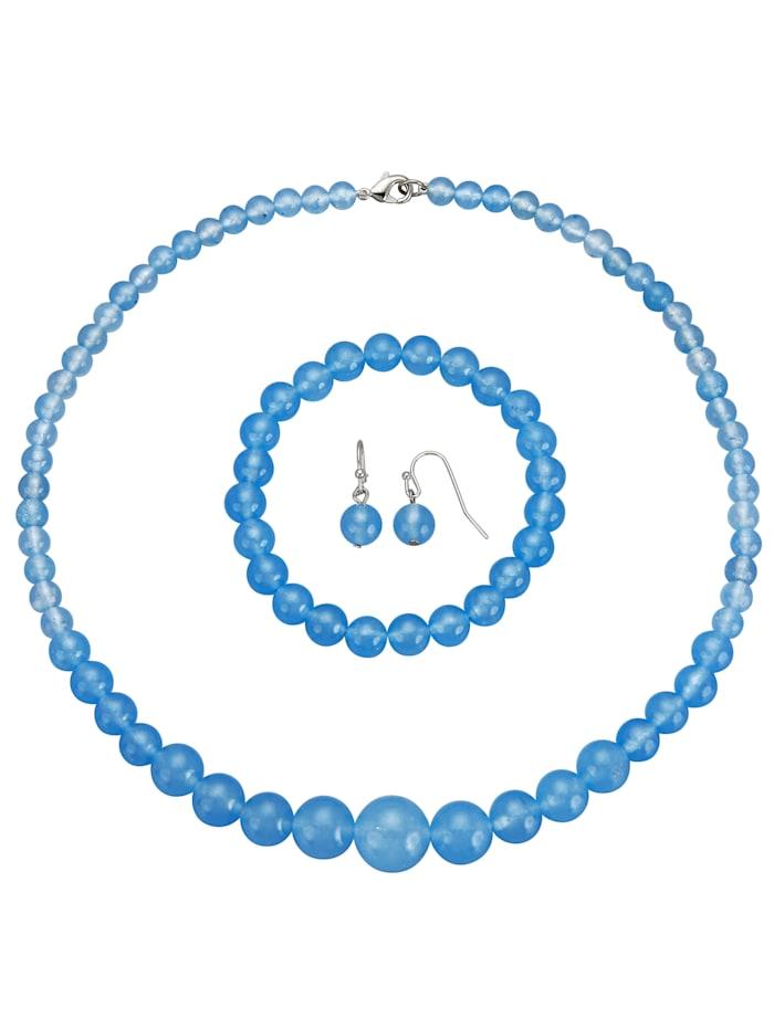 3-delige sieradenset, Blauw