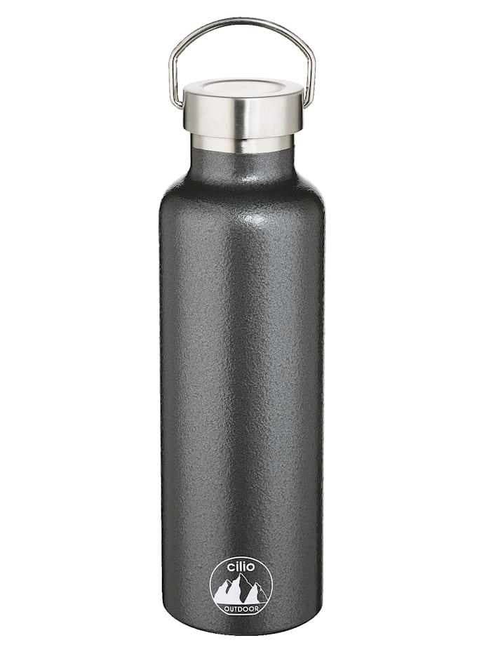 Cilio Isoliertrinkflasche 'GRIGIO', 500 ml Edelstahl lackiert, anthrazit