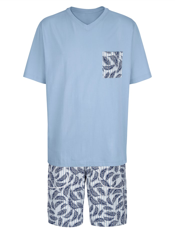 BABISTA Pyjamas, Ljusblå/Vit