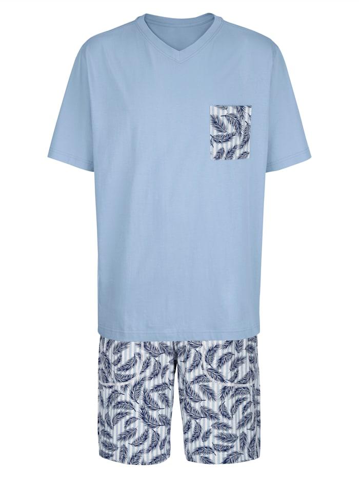 BABISTA Pyjashort, Bleu ciel/Blanc