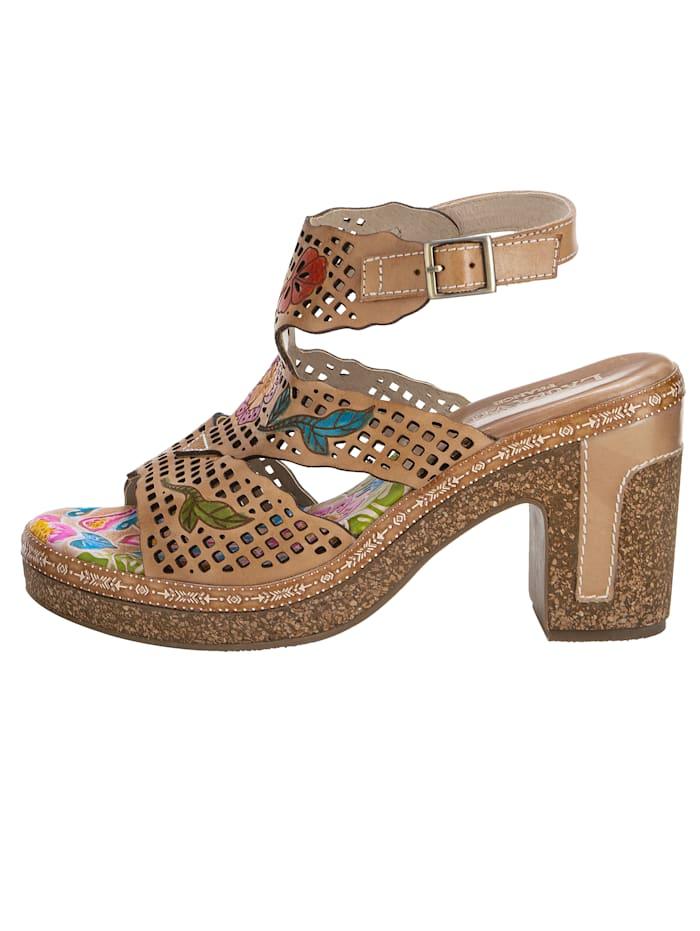 Sandales avec application florale