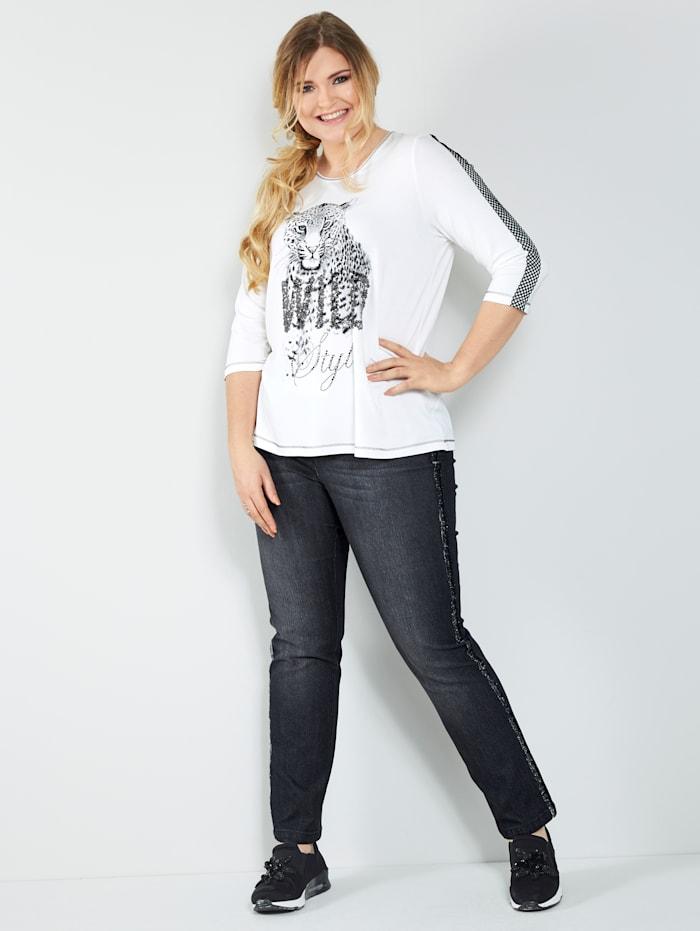Jeans med glittrande revärer
