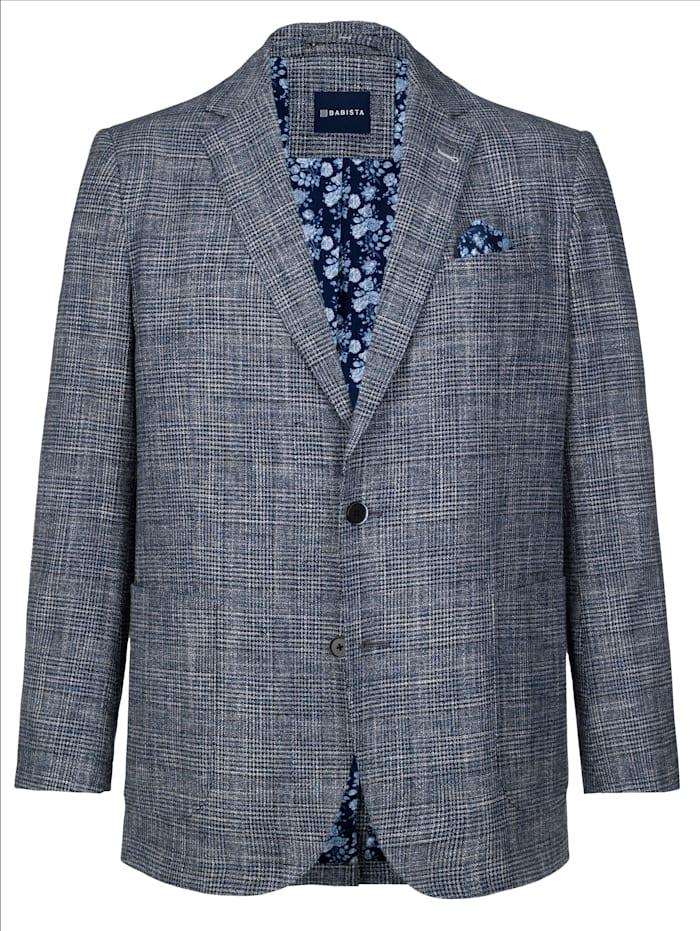 BABISTA Colbert met linnen, Blauw/Zwart