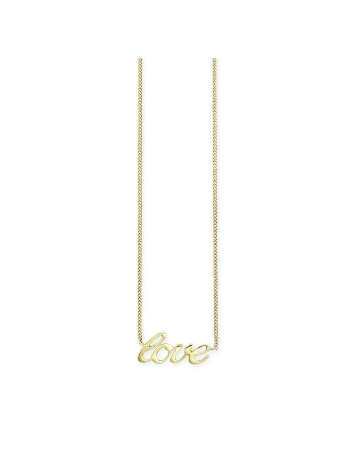 CAI Collier 925/- Sterling Silber 39+5cm vergoldet, gelb