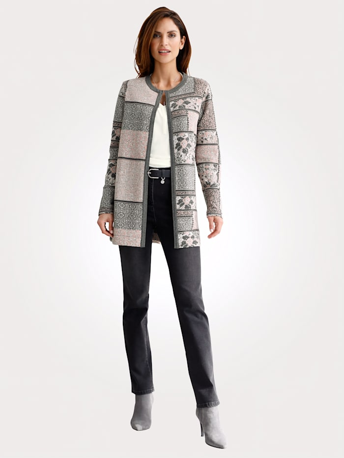 Vest met harmonieus jacquardpatroon