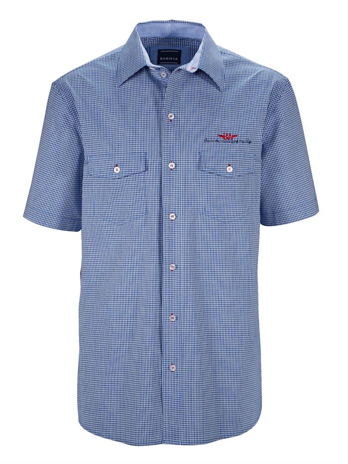 BABISTA Hemd mit verschließbaren Brusttaschen, Weiß/Blau