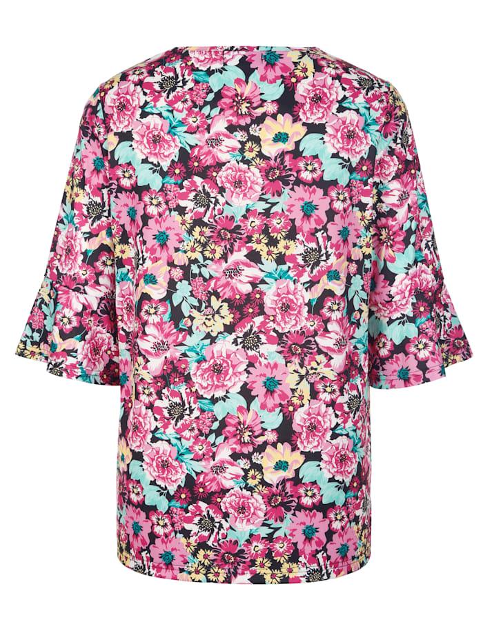 Shirt rundum mit Blumenmuster