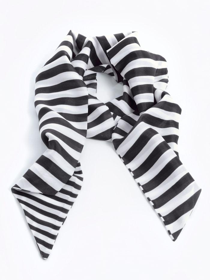 Alba Moda Schal in Streifenoptik, Schwarz/Weiß