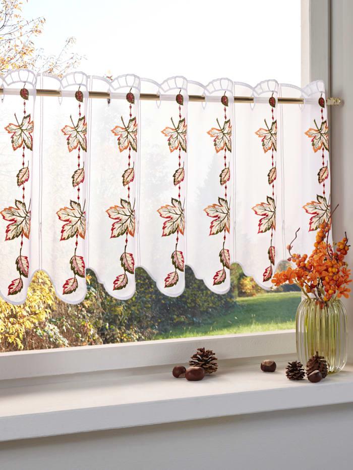 Stickereien & Textilien Korte vitrage Herfstbladeren, multicolor