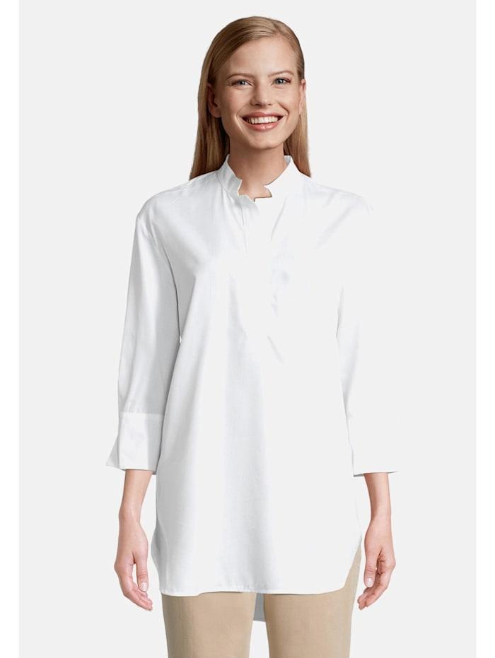 Betty & Co Longbluse mit 3/4 Arm Form, Weiß