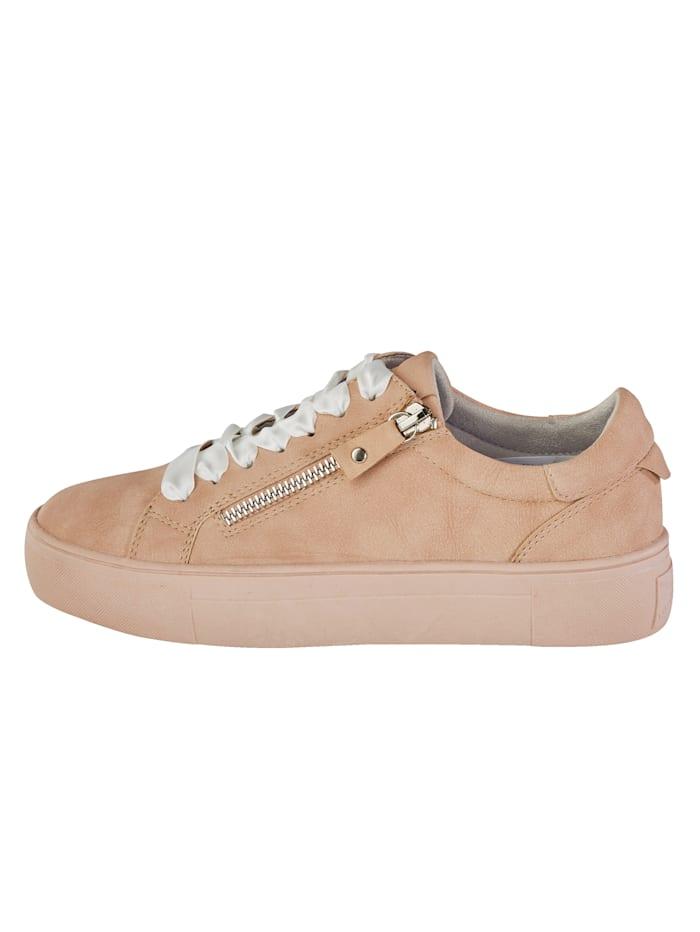 Sneakers med glidelås på siden