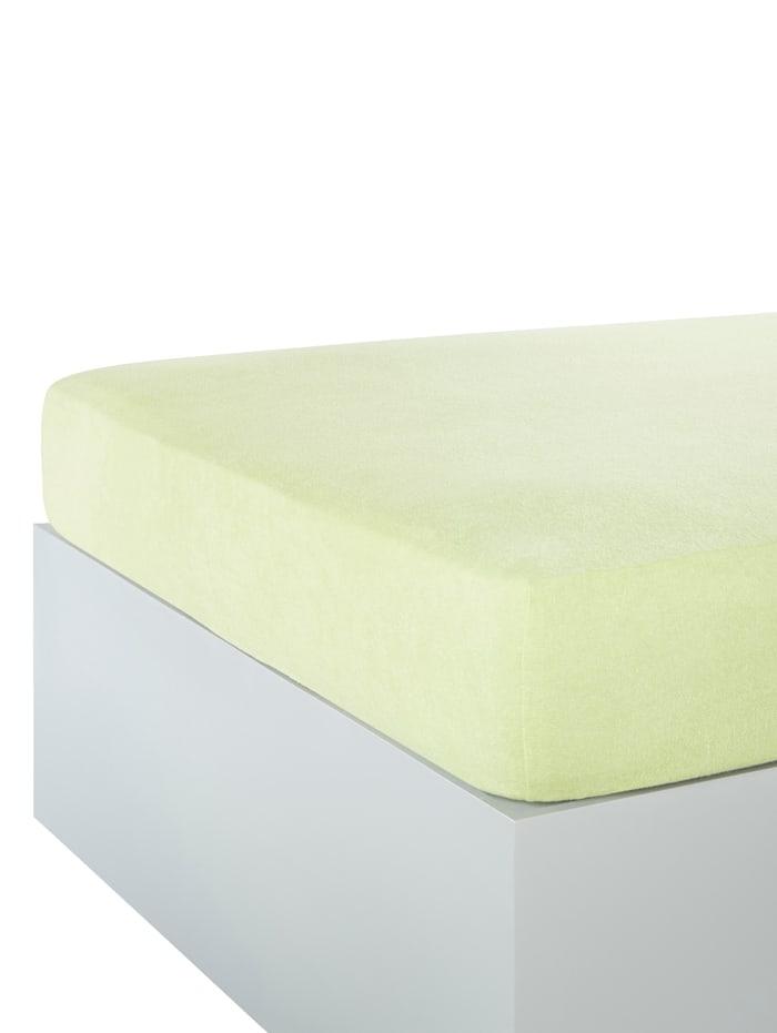 Webschatz Frottee-Stretch Spannbettlaken, Lindgrün