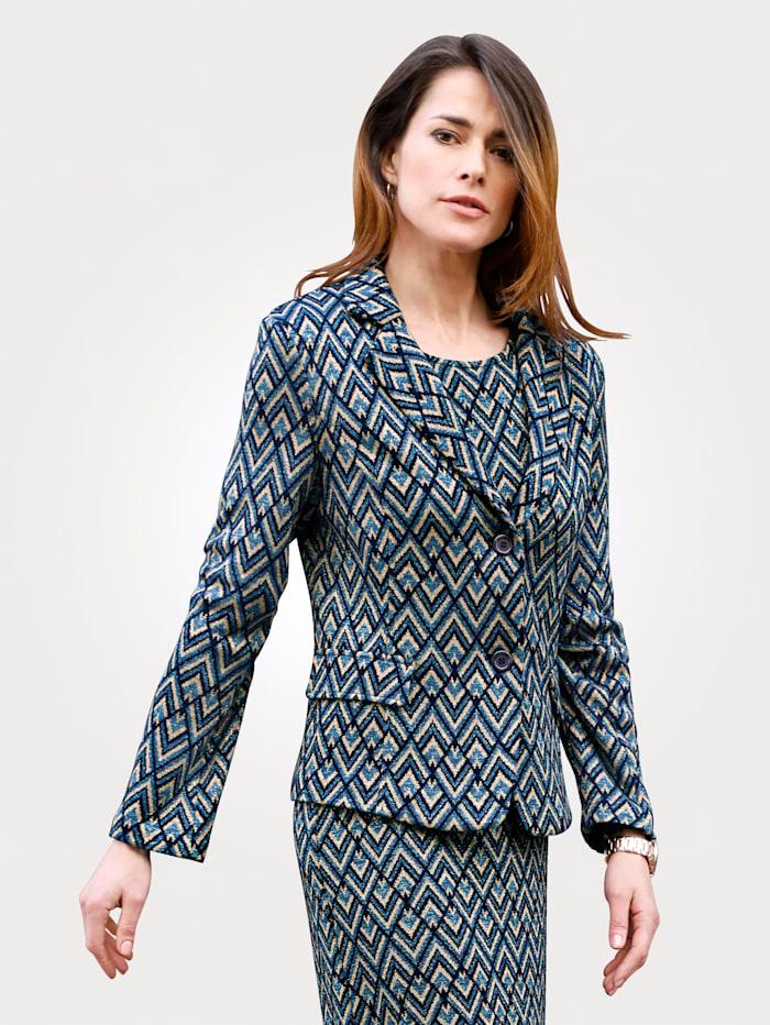 Blazer made from a soft jacquard knit