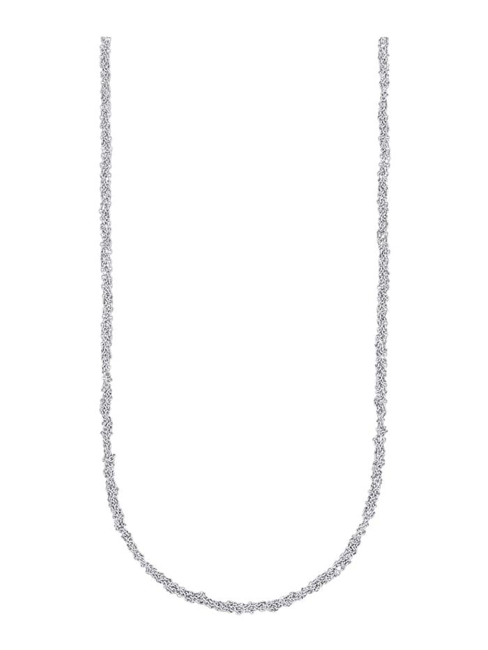Diemer Gold Ankerkette in Weißgold 585, Silber
