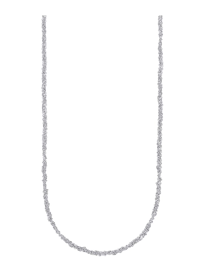 Diemer Gold Ankerketting van 14 kt. witgoud, Zilverkleur