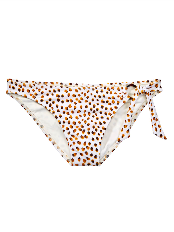 Cyell Bikinihose, Creme-Weiß/Braun