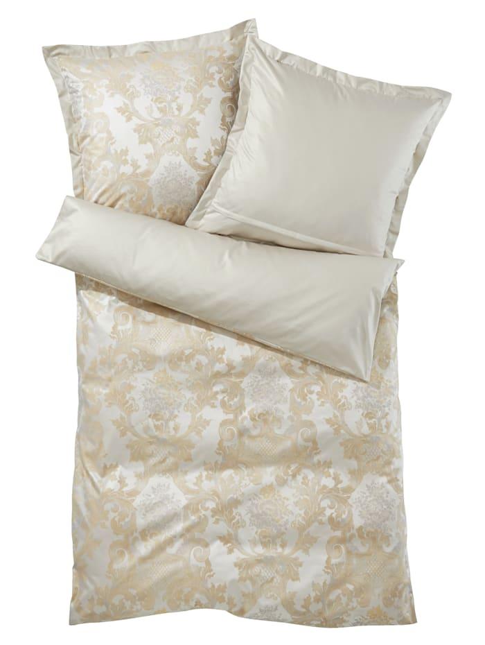 Linge de lit en en coton égyptien damassé