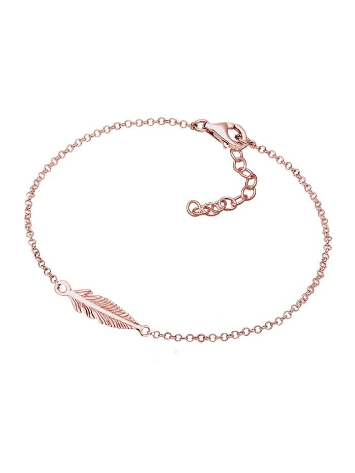 Armband Feder 925 Sterling Silber