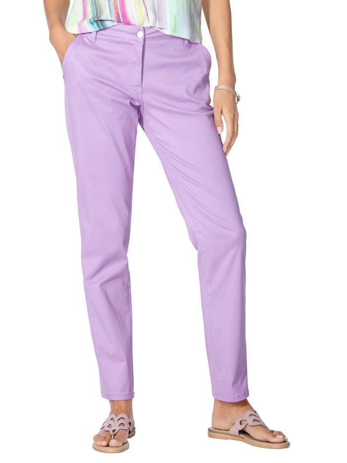 AMY VERMONT Chinobroek in prachtige kleuren, Lavendel