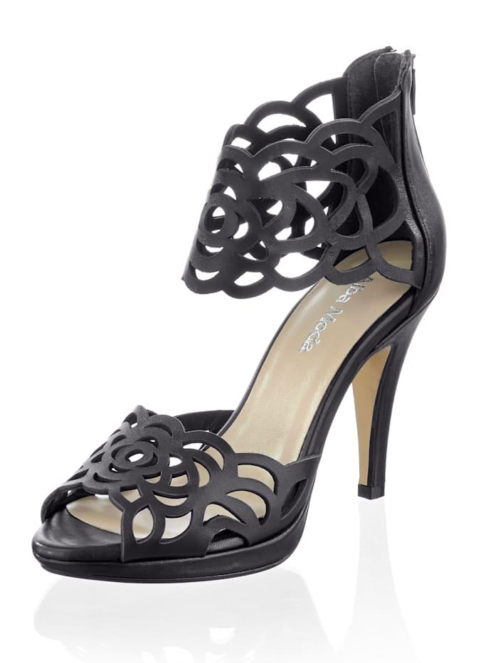 Alba Moda Sandalette mit Cutouts auf den Riemen, Schwarz