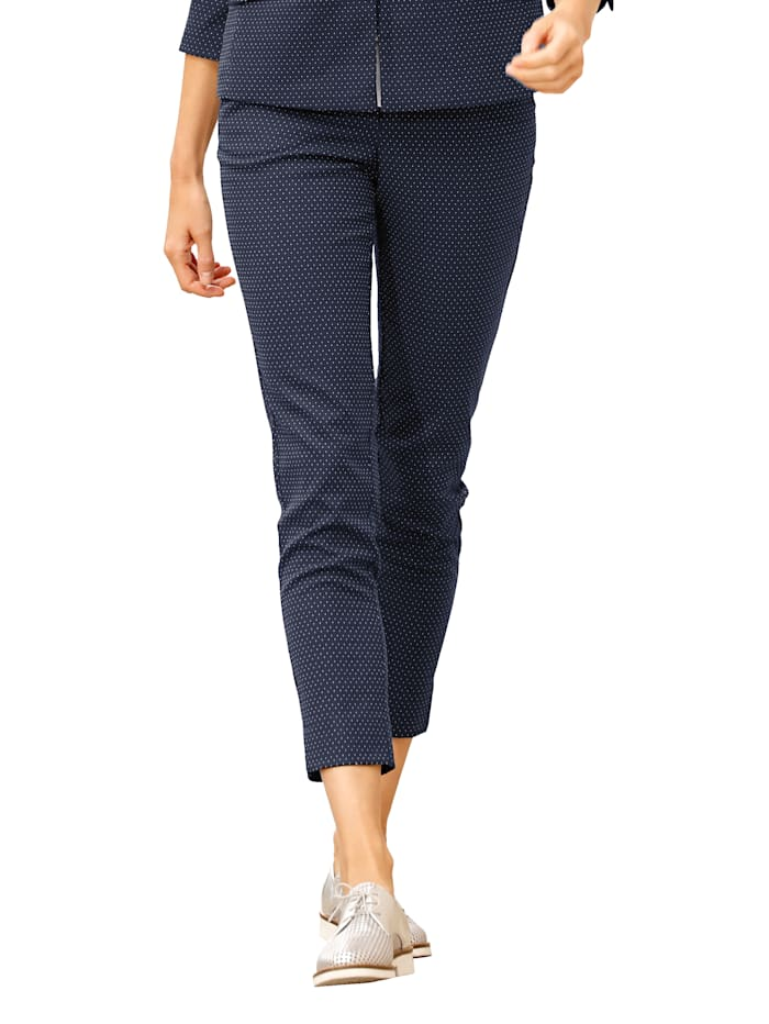 Broek Regular Fit, met stippen