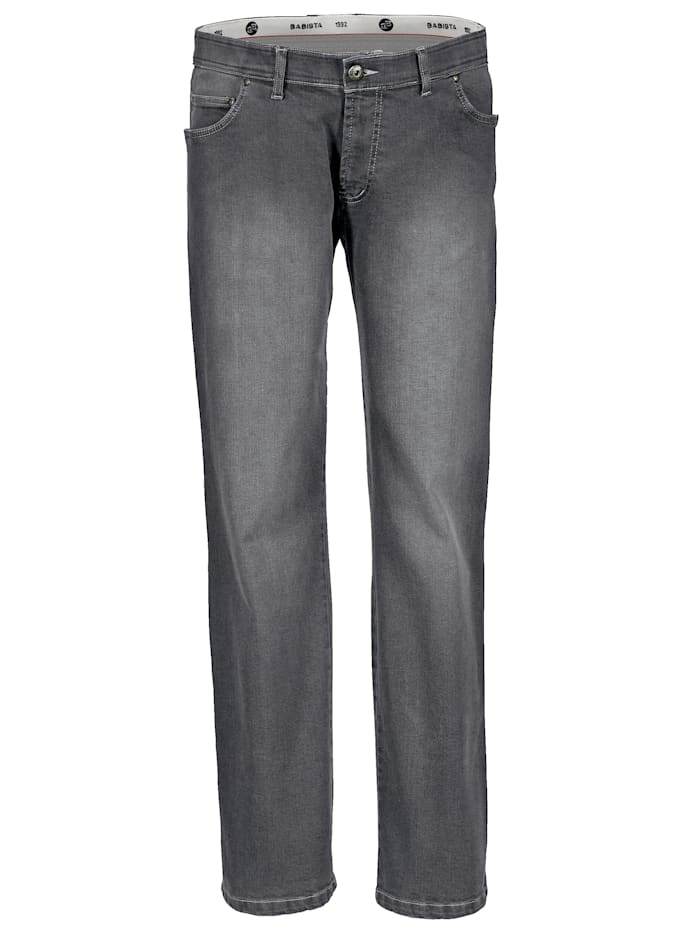 BABISTA Unterbauch-Jeans mit verkürzter Leibhöhe, Grau