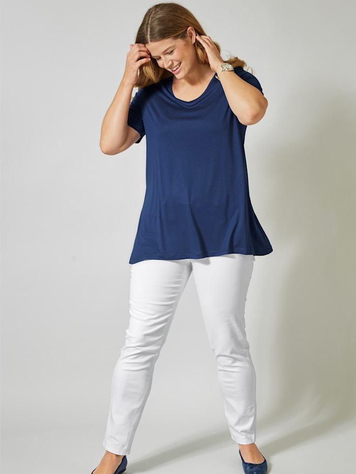 Janet & Joyce Shirt aus reiner Viskose, Blau