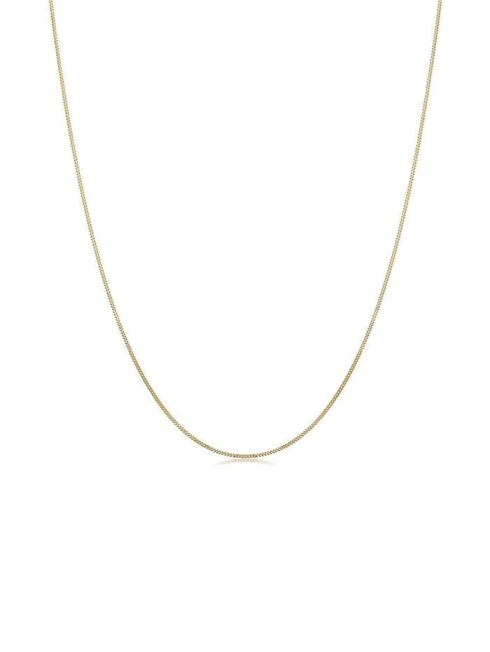 Elli Premium Halskette Basic-Kette 585 Gelbgold, Gold