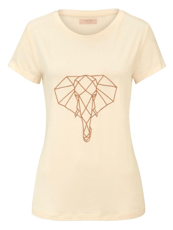 SIENNA T-Shirt, Creme-Weiß
