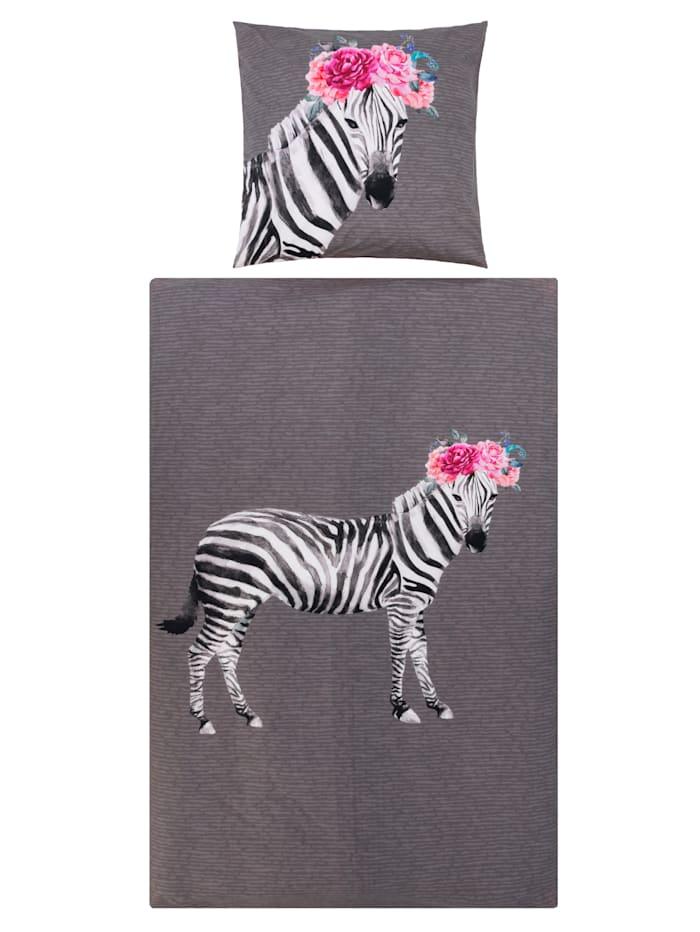 IMPRESSIONEN living Bettwäsche, Zebra, Grau/Rosé