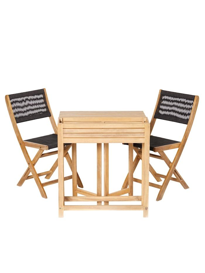IMPRESSIONEN living Balkon-Set, 3-tlg., natur/ schwarz