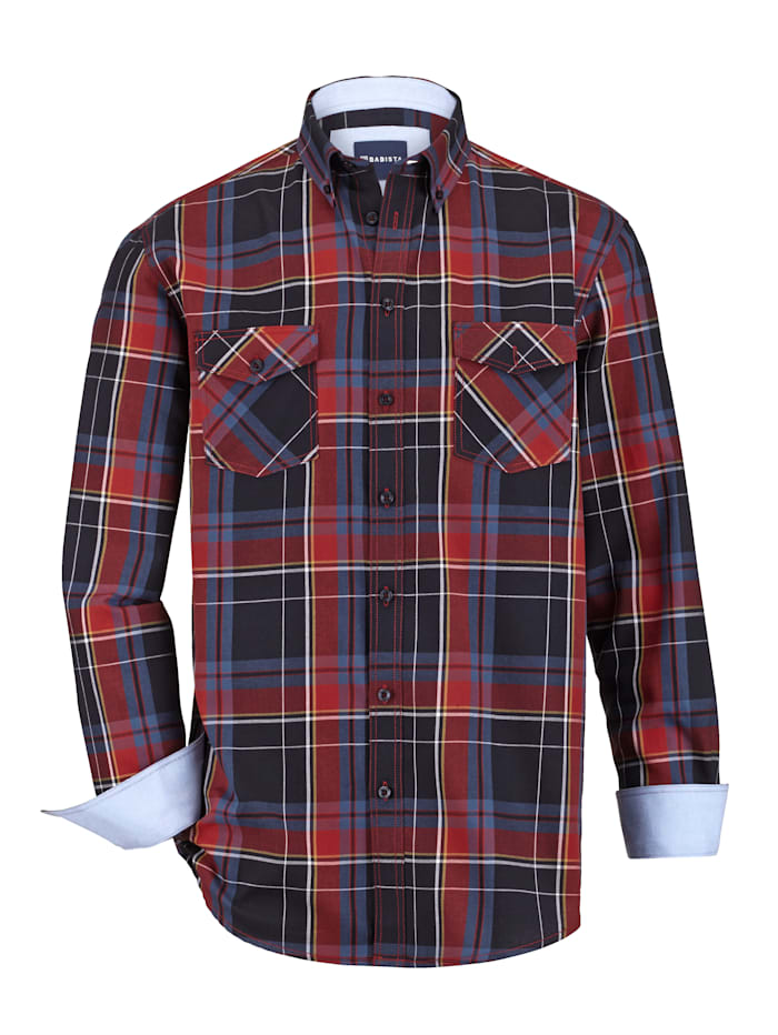 BABISTA Hemd mit 2 Pattentaschen, Marineblau/Rot