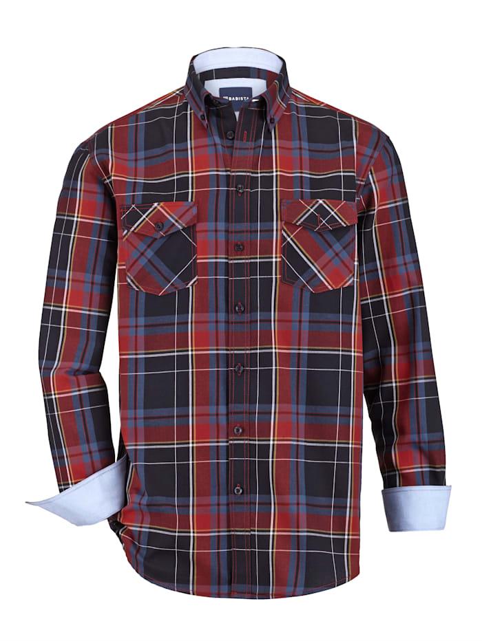BABISTA Overhemd met 2 klepzakken, Marine/Rood
