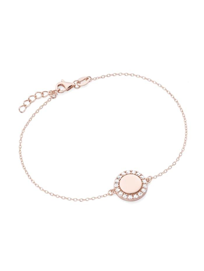 Smart Jewel Armband rund mit Zirkonia Steinen Silber 925, Rosé