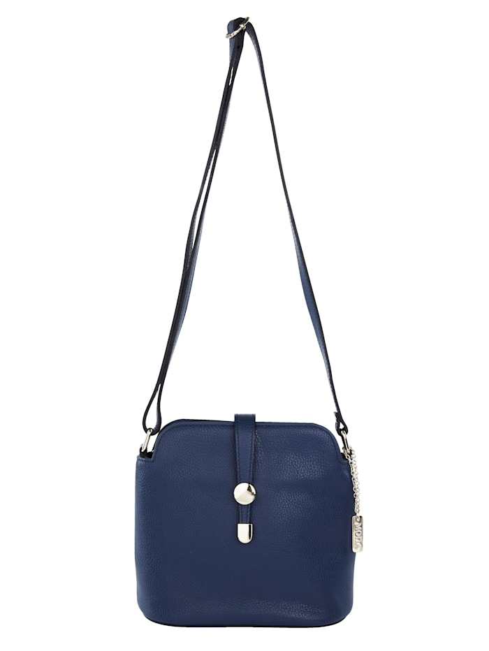 MONA Shoulder bag with elegant clasp, Navy