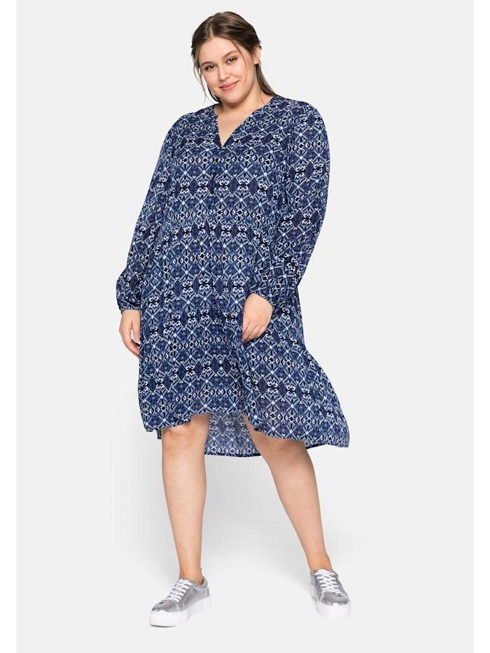 Sheego Sheego Kleid mit Stufen, nachtblau