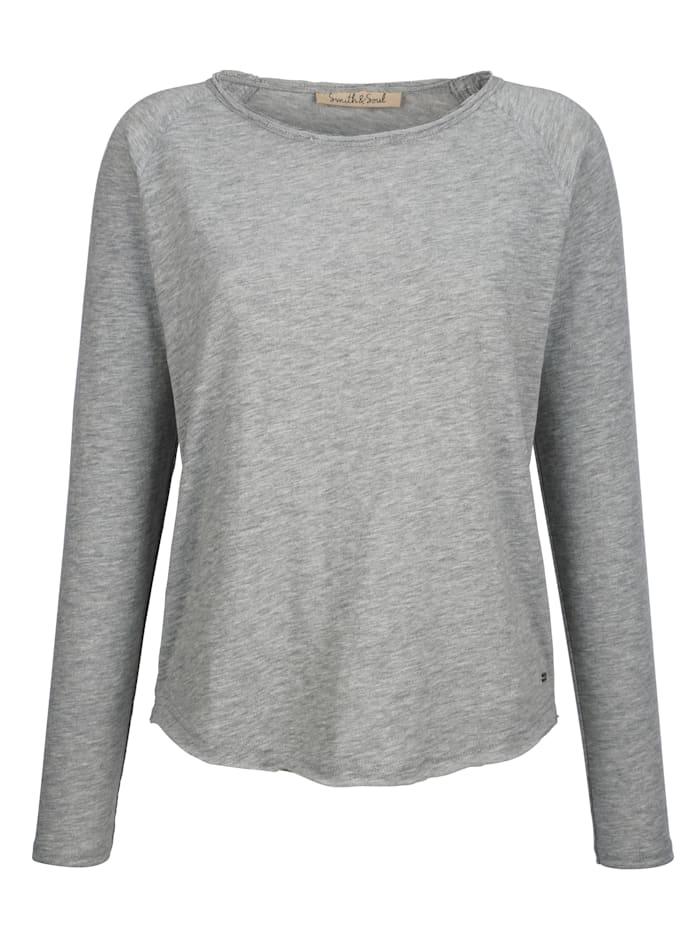 Smith & Soul Sweatshirt in leichter Baumwollqualität, Grau