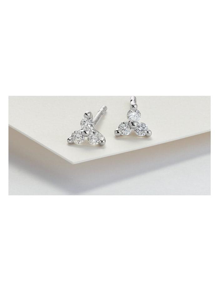 CHRIST Diamonds Damen-Ohrstecker 375er Weißgold 6 Diamant